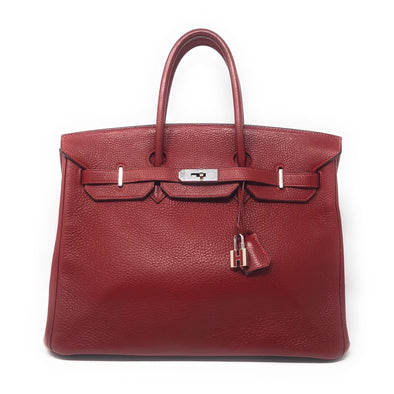 Hermes Birkin 35CM Red Togo - The Jewels of Beverly Hills