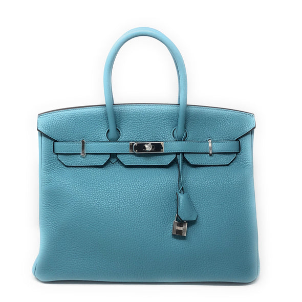 Hermes Birkin 35CM Turquoise Togo  - The Jewels of Beverly Hills