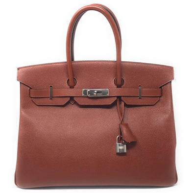 Hermes Birkin 35CM Brown Epsom  - The Jewels of Beverly Hills