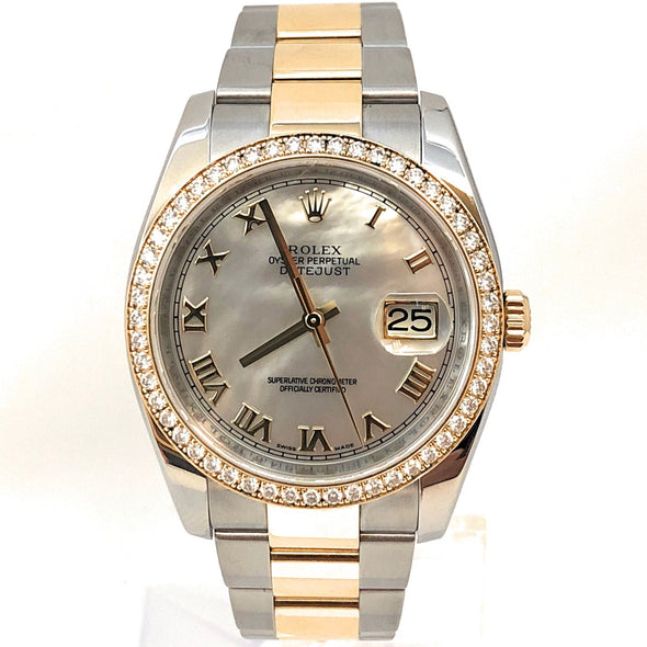ROLEX DATEJUST DIAMOND BEZEL 116243 MRO - The Jewels of Beverly Hills