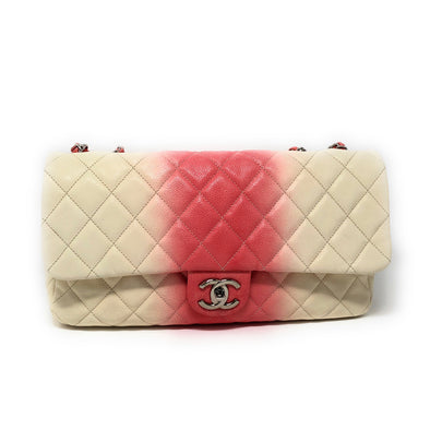 Chanel Jumbo Classic Flip 2 Tone Ivory and Rose - The Jewels of Beverly Hills