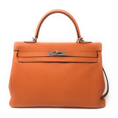 Hermes Kelly 35CM Orange - The Jewels of Beverly Hills