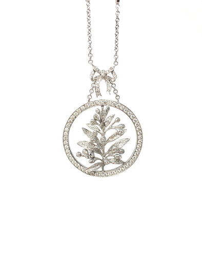 DIAMOND LEAVE NECKLACE