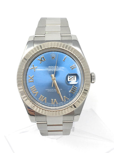ROLEX DATEJUST II STAINLESS STEEL 116334BLRO - The Jewels of Beverly Hills