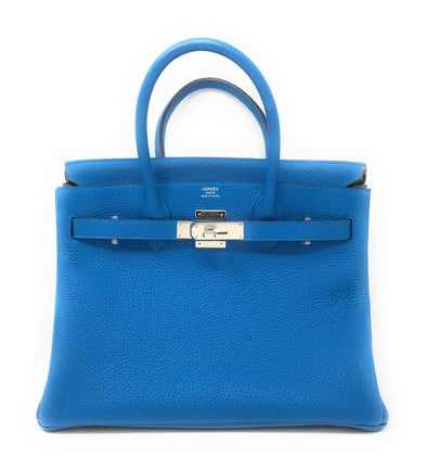 Hermes Birkin 30CM Blue Zanzibar & Green Malachite - The Jewels of Beverly Hills