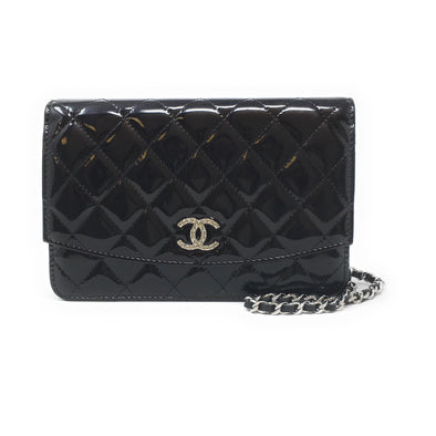 CHANEL BLACK WALLET ON CHAIN