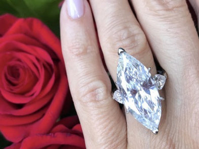 Marquise Cut Diamond Ring - The Jewels of Beverly Hills