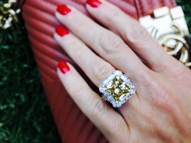 Fancy Yellow Radiant Diamond Ring - The Jewels of Beverly Hills