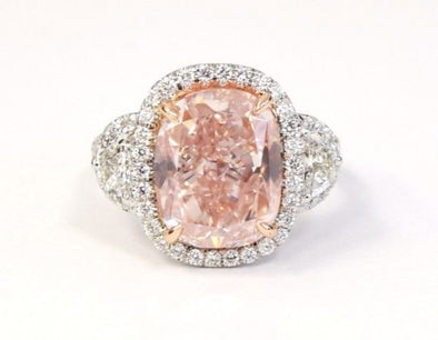 Fancy Pink Diamond Ring  - The Jewels of Beverly Hills