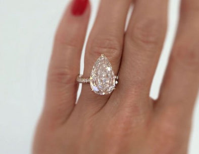 Pear Cut Diamond Ring - The Jewels of Beverly Hills