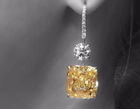 Fancy Yellow Diamond Earrings - The Jewels of Beverly Hills