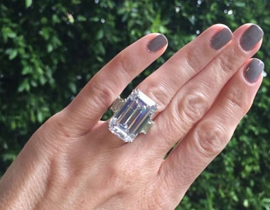 Emerald Cut Diamond Ring - The Jewels of Beverly Hills