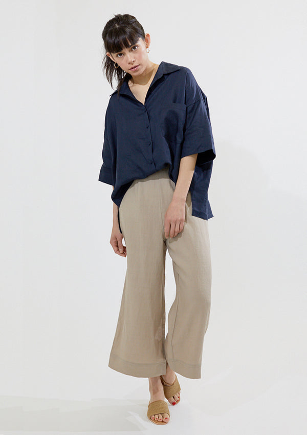 3/4 Sleeve Linen Shirt