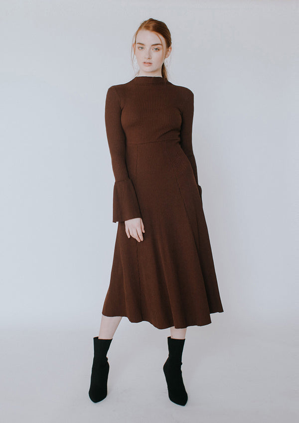 Bell Sleeve Knit Dress