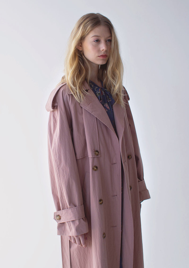 Oversized Double Breasted Trench