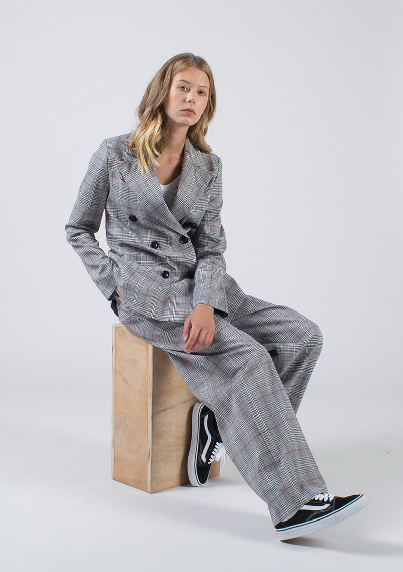 Plaid HW Suit Trouser