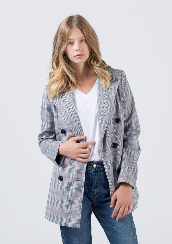 Plaid DB Suit Blazer
