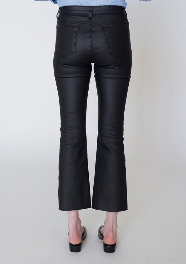 Coated Bootcut Jeans