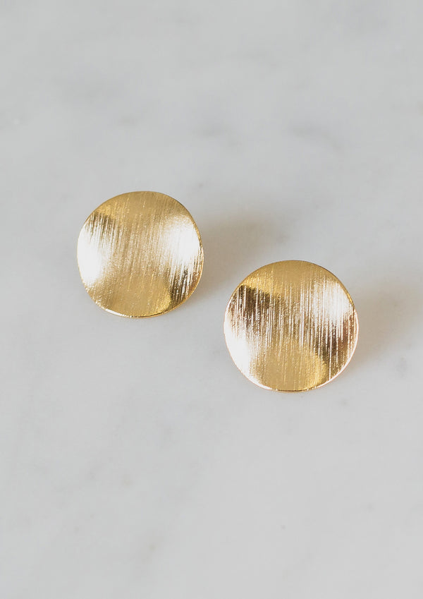 Textured Circle Earrings