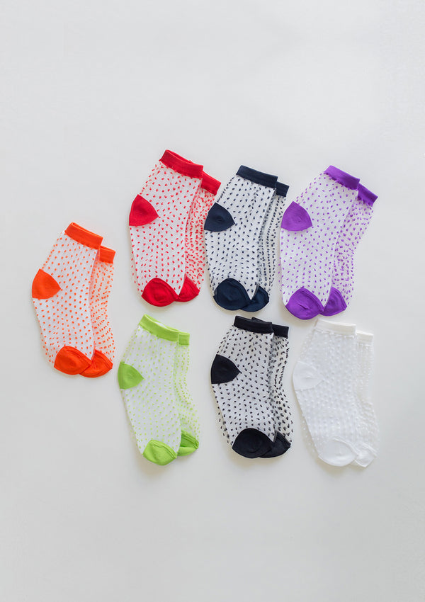Polka Dot Sheer Socks