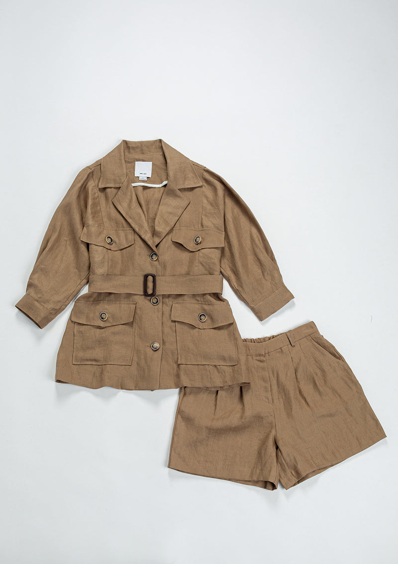 Safari Linen Set Jacket