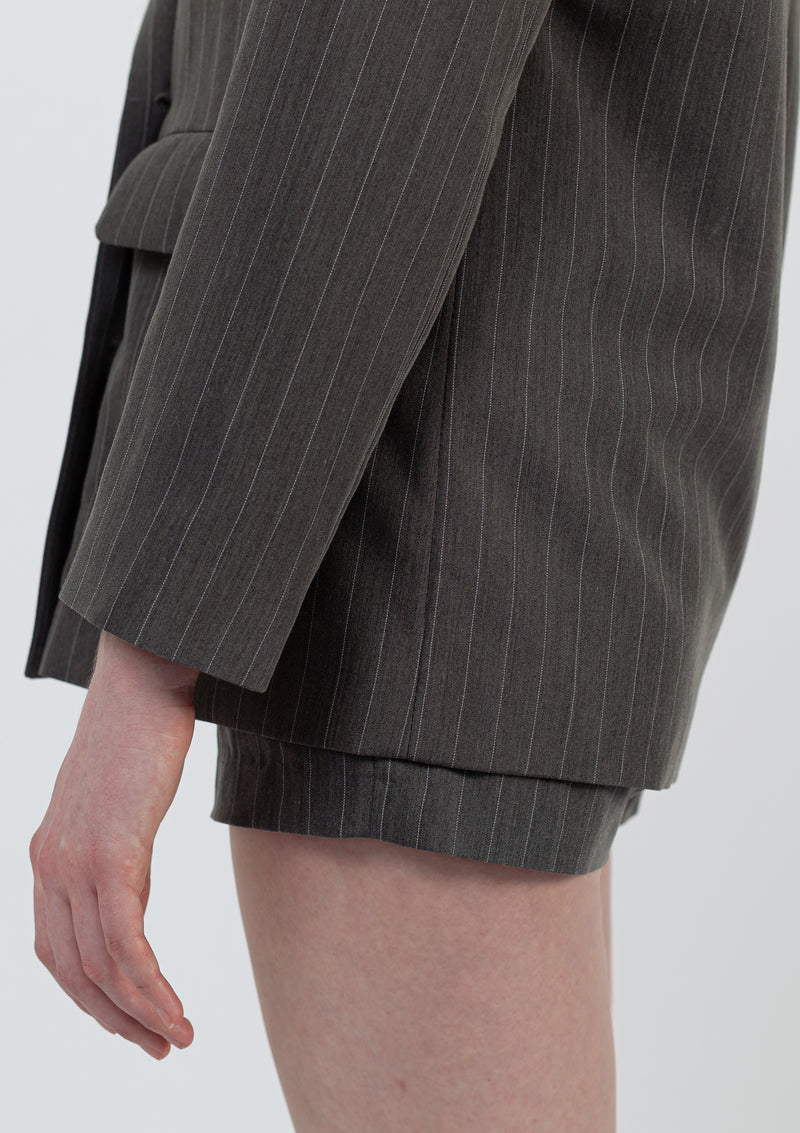 Pin Stripe Suit Shorts