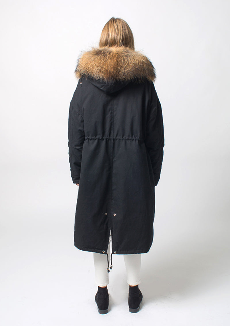 Raccoon Fur Hood Parka