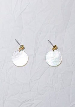 Shell Circle Earrings