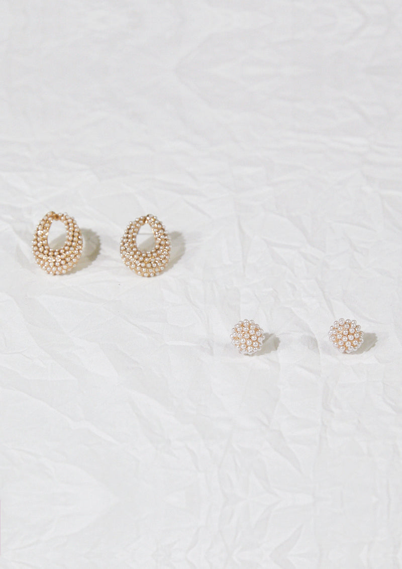 Pearl Ring Earrings