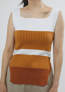 Color Blocked Knit Tank