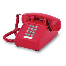 Cortelco 2500 Basic Desk Phone (Red) (250047-VBA-20M)