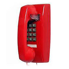 Cortelco 2554 Basic Wall Mount Phone (Red) (255447-VBA-20M)