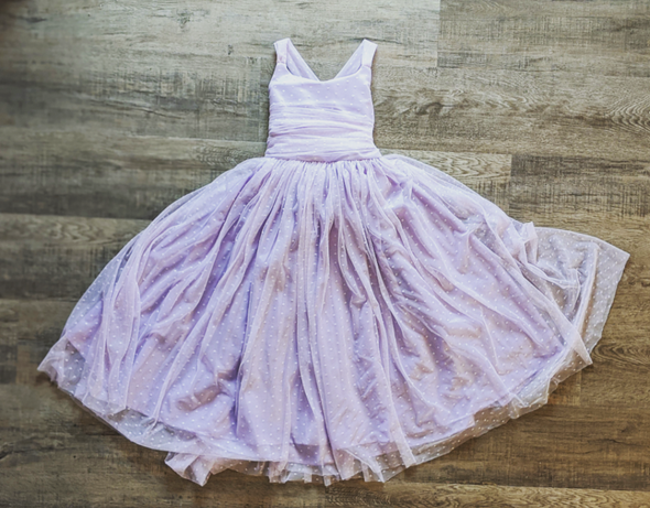 READY to SHIP SALE: The Danielle Dress in LAVENDER Swiss Dot