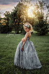 The Asher Gown in GREY: Full Length: with Tutu Sewn in