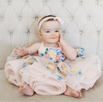 The Traveling Dress Project: Itty Bitty Blush Amelia: Fits sizes 3 months to 2T