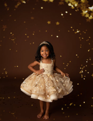 "The Traveling Dress Project: ""Goldie"": Shortie Style: Size 2/3: fits 2-slender 5t"