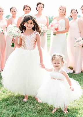 The Juliet Dress: Blush Sequin Bodice and Light Ivory Tulle