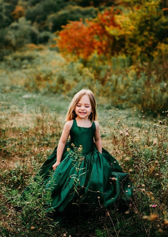 READY to SHIP - The Hadley Gown in Emerald Green withOUT a Tutu Sewn in!!!