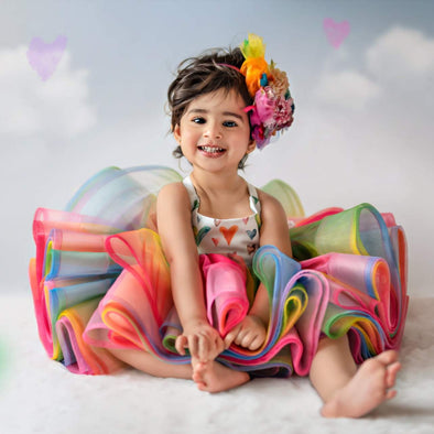 The Traveling Dress Project: Itty Bitty Rainbow Shortie: Fits sizes 3months-2T