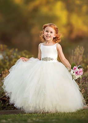 The Grace Dress: Ivory Satin Bodice and Ivory Tulle
