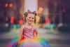 The Rainbow Ophelia Dress with Pink Sequin Bodice