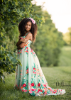 The Traveling Dress Project: The Mint Amelia Gown: Size 14 Full Length: fits sizes 10-14