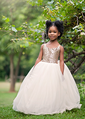 The Ophelia Dress: Gold Sequin Bodice and Ivory Skirt