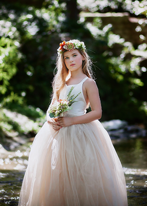 The Ophelia Dress: Ivory Bodice and Champagne Skirt
