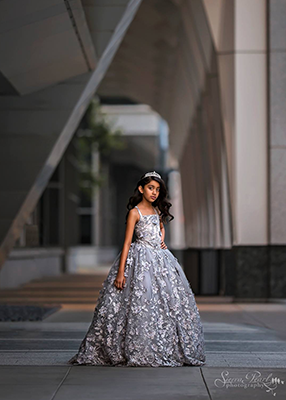 The Dahlia Gown - Grey