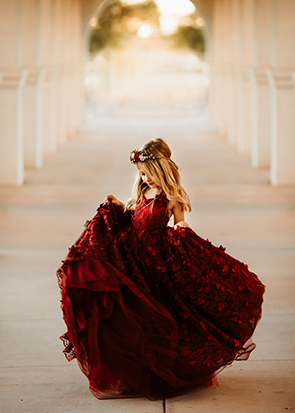 READY to SHIP - Size 6 - The Dahlia Gown in Burgundy