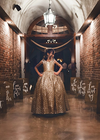 Gold Sequin Ball Gown - Juliet Style