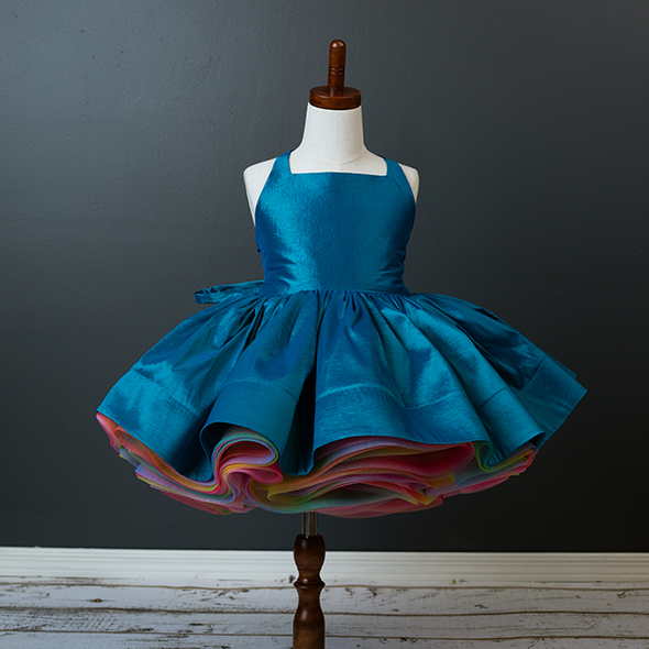 Traveling Rental Dress: Hadley Rainbow: PEACOCK: Size 7, fits sizes 4-9