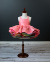Traveling Rental Dress: Hadley Rainbow: CORAL: Size 6, fits sizes 4-8