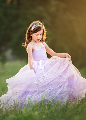 Rent The Leisel Gown in Lavender: Size 6: fits 4-8yrs